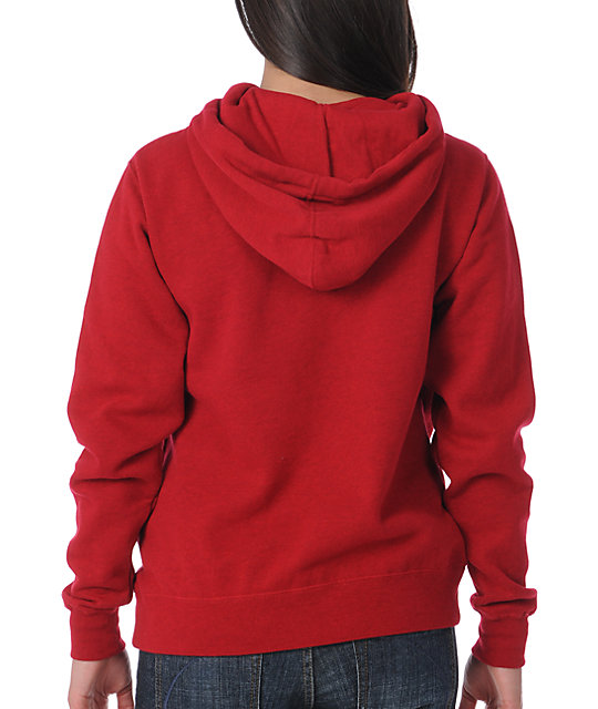 Glamour Kills Dream Without Fear Red Pullover Hoodie