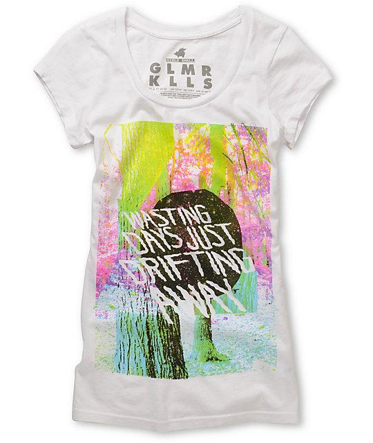 Glamour Kills Drift Away Scoop-Neck White T-Shirt