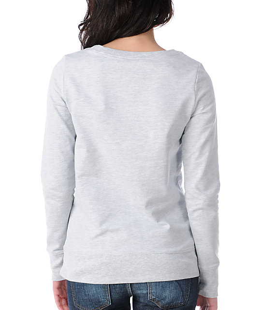 Glamour Kills Drop & Anchor Grey Crew Neck Sweatshirt