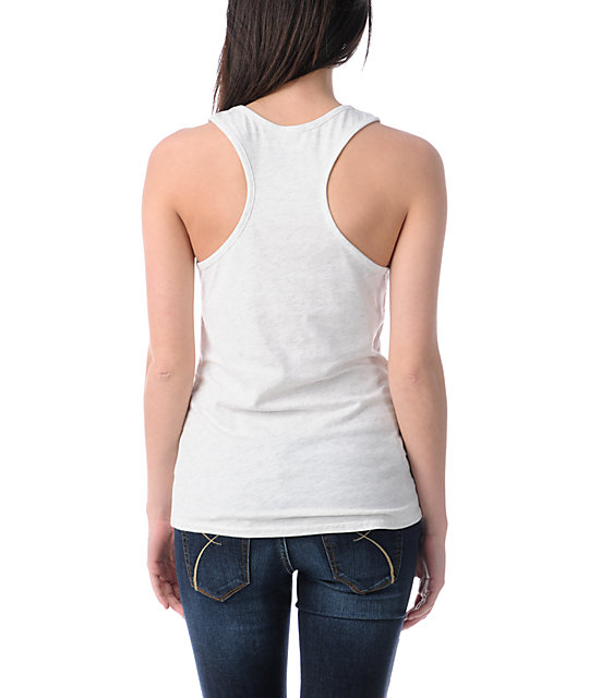 Glamour Kills Fine By Design Heather White Tank Top