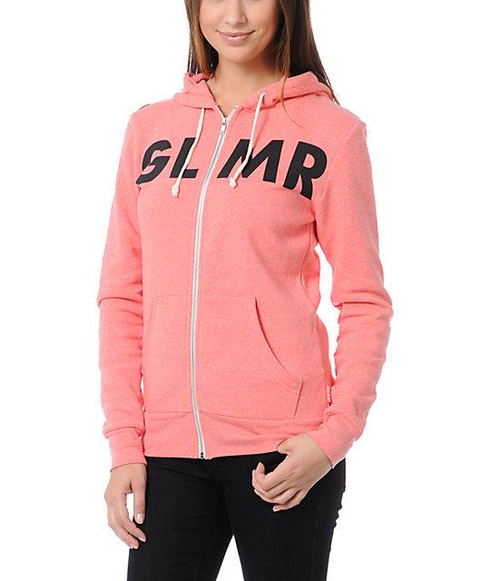Glamour Kills GLMR Coral Zip Sweatshirt