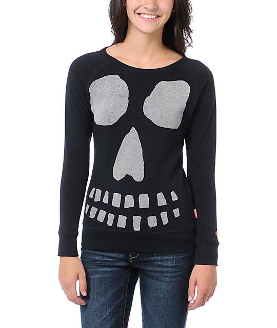 Glamour Kills Ghoulish Black Crew Neck Sweatshirt