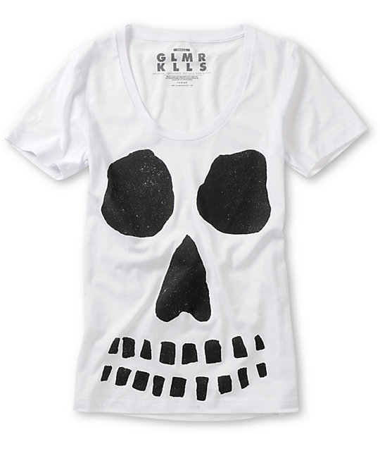 Glamour Kills Ghoulish Intentions White T-Shirt