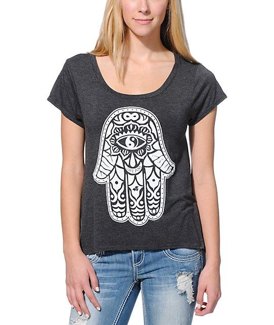 Glamour Kills Hamsa Charcoal T-Shirt