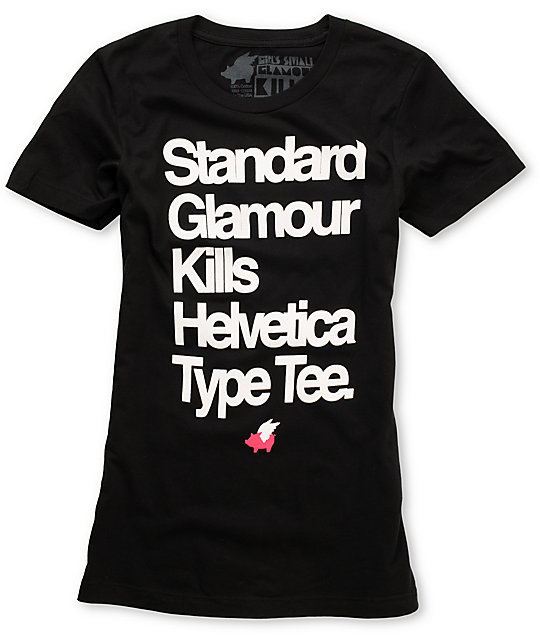 Glamour Kills Helvetica Black T-Shirt