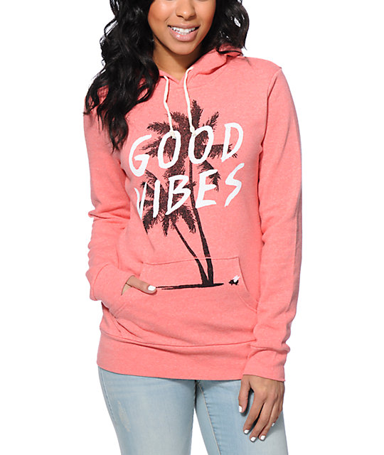 Glamour Kills Holiday Forever Coral Pullover Hoodie