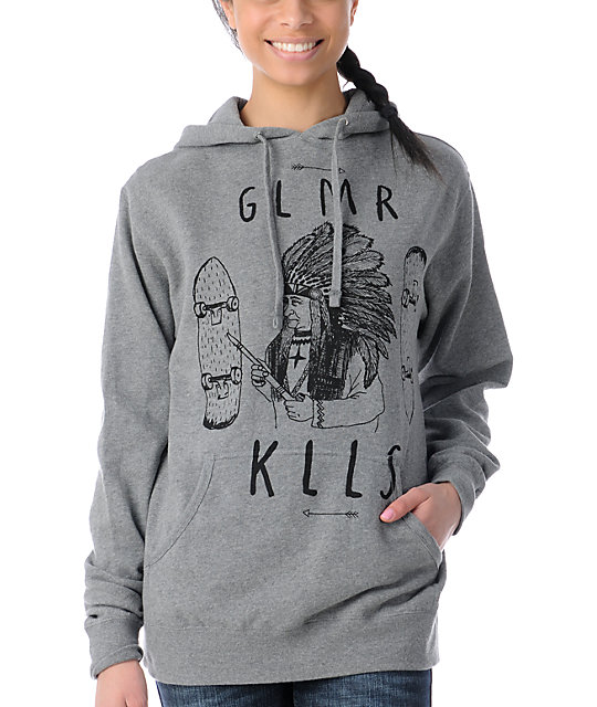 Glamour Kills Indian Summer Grey Pullover Hoodie