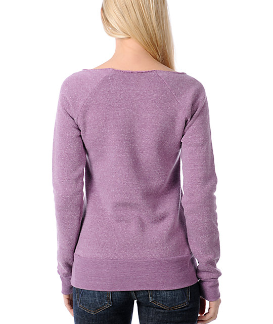 Glamour Kills Infinite Possibility Purple Crew Neck Sweatshirt