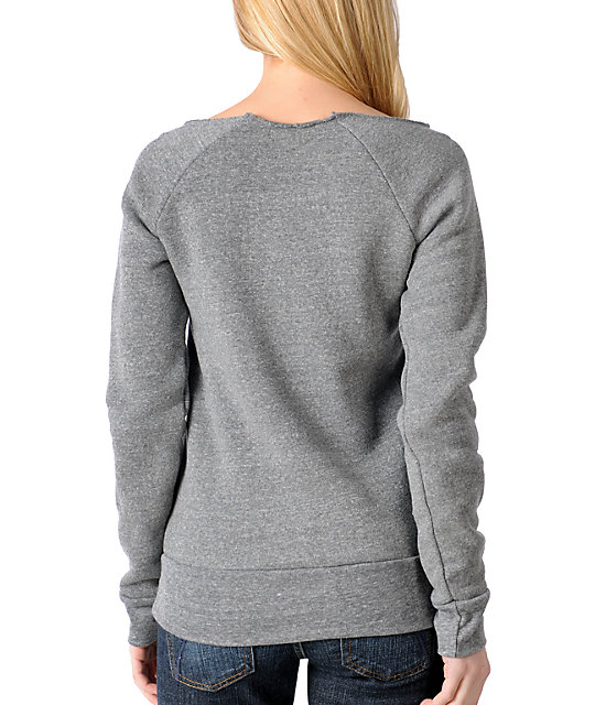 Glamour Kills Instant Classic Grey Cropped Pullover Sweatshirt