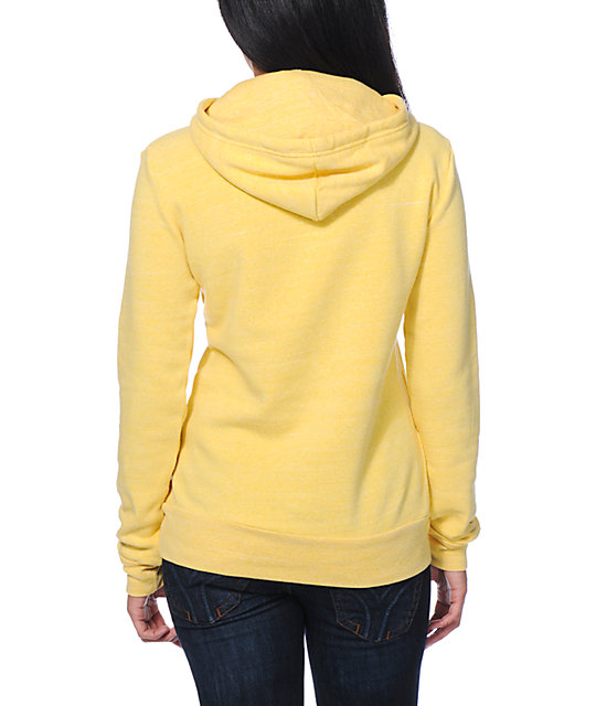 Glamour Kills Just Like A Dream Yellow Pullover Hoodie