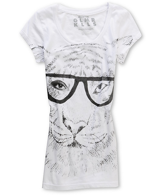 Glamour Kills King Of The Jungle Too White T-Shirt