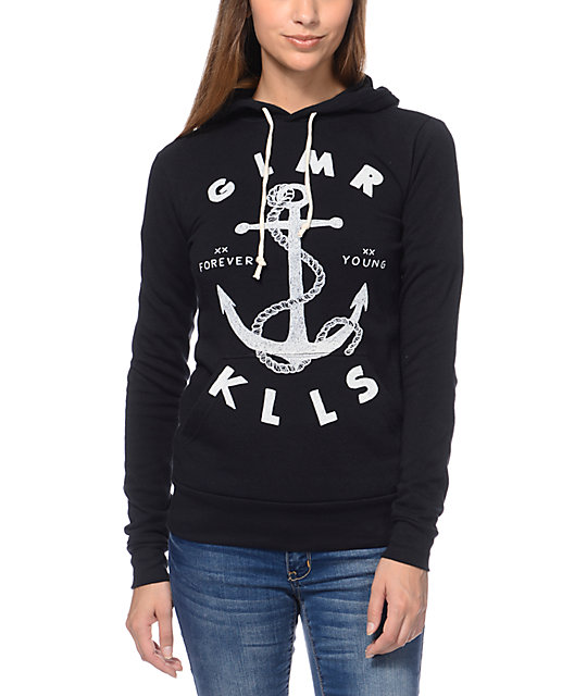 Glamour Kills Land Locked Black Pullover Hoodie