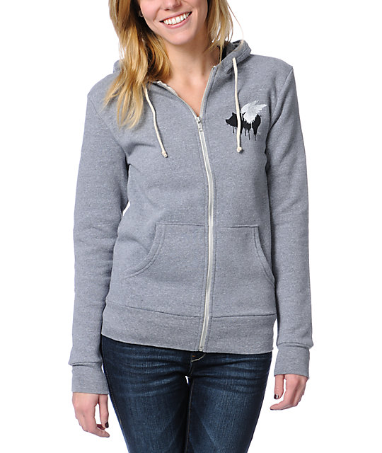 Glamour Kills Let It Take Hold Grey Zip Up Hoodie