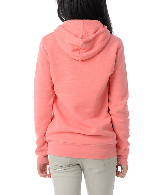 Glamour Kills Live Forever Coral Pullover Hoodie