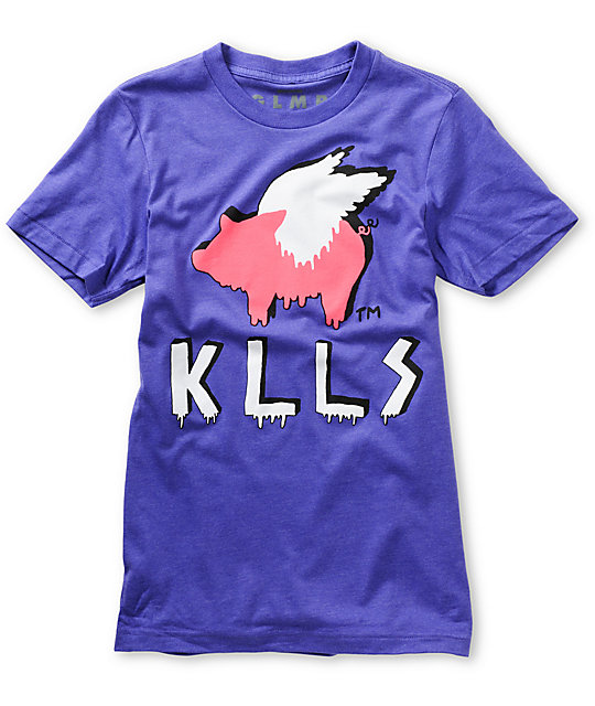 Glamour Kills Mass Hysteria Purple T-Shirt