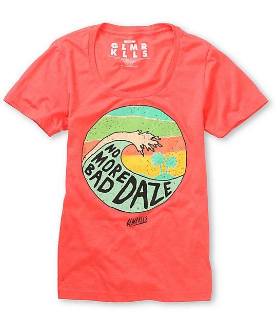 Glamour Kills No More Bad Daze Coral T-Shirt