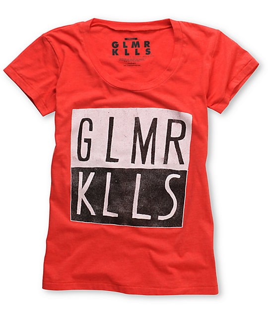 Glamour Kills Oh Inverted Heather Red T-Shirt