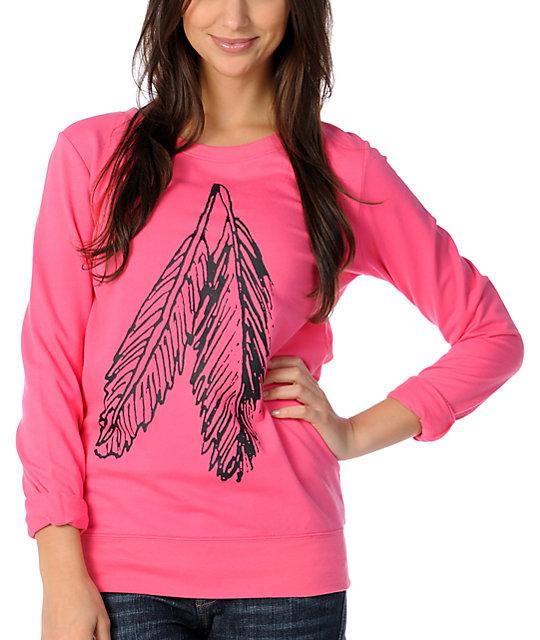 Glamour Kills Perfect Pair Pink Crew Neck Sweatshirt