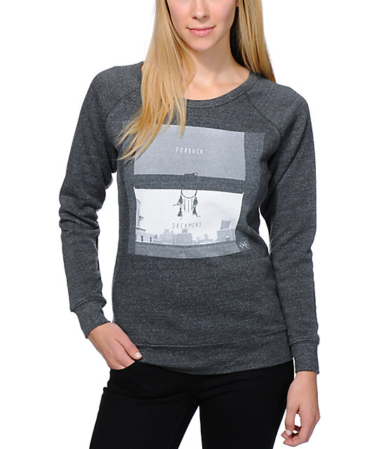 Glamour Kills Secret Window Charcoal Crew Neck Sweatshirt