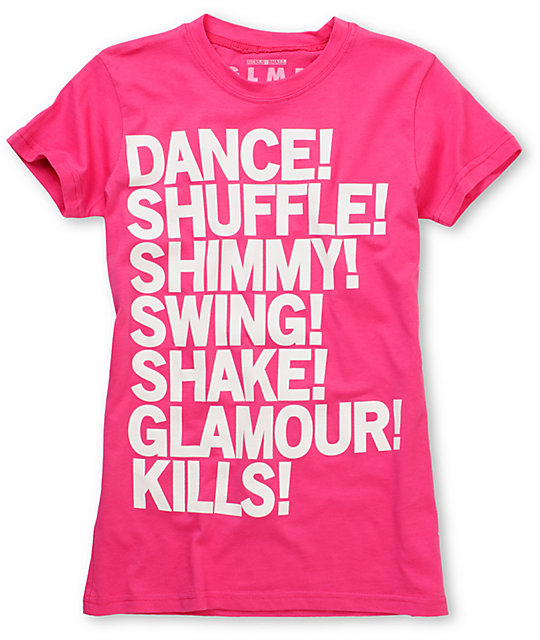 Glamour Kills Shimmy Shimmy Pink Graphic T-Shirt