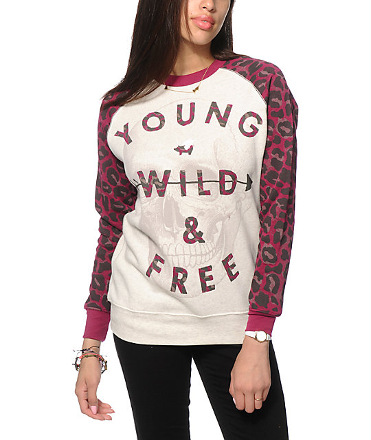 Glamour Kills Straight Shot Crew Neck Sweatshirt