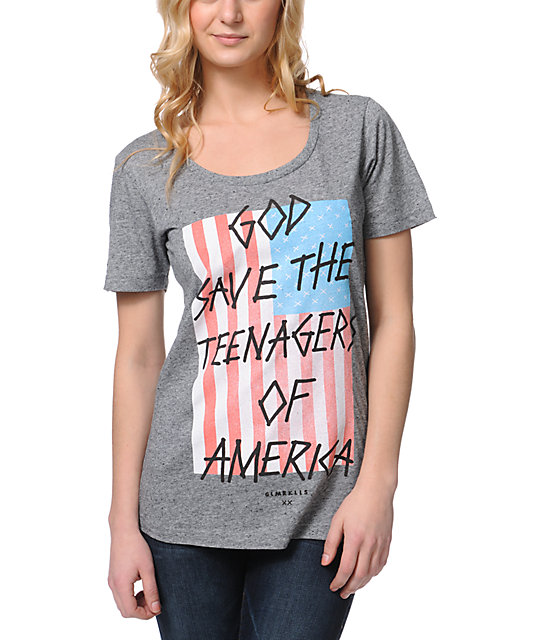 Glamour Kills T-Shirtnagers Of America Grey T-Shirt