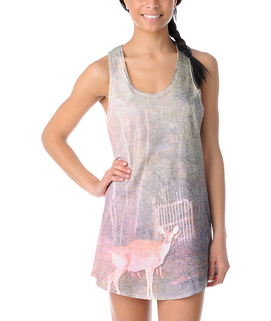 Glamour Kills Take To The Night Natural Tank Dress