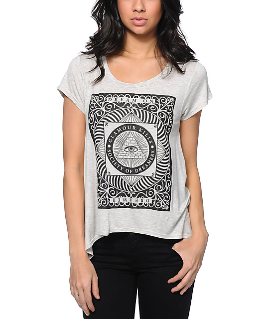 Glamour Kills The All Seeing Heather White T-Shirt
