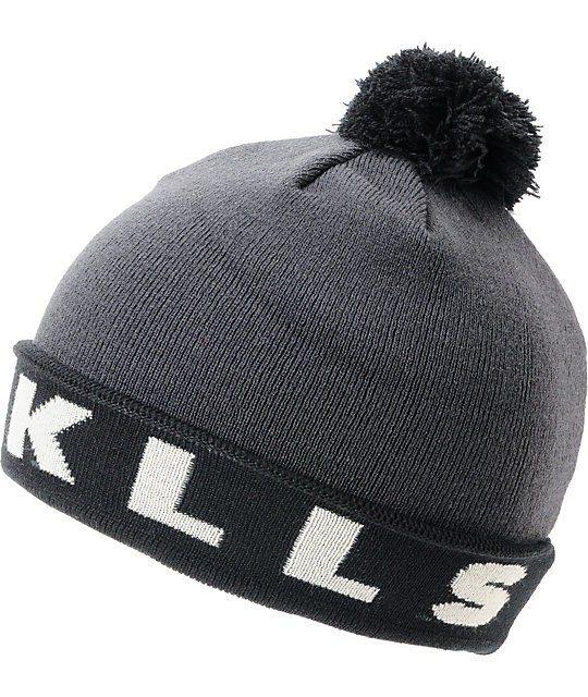 Glamour Kills The Crow Black Pom Beanie