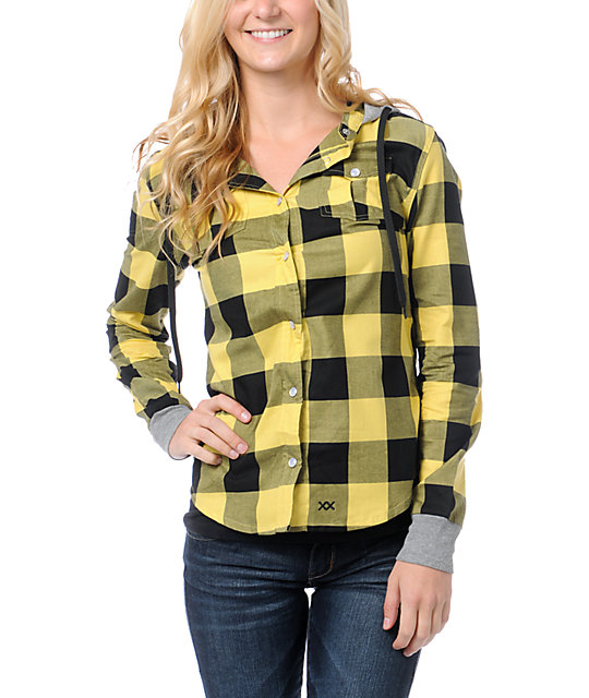 Glamour Kills The Observer Yellow Plaid Hooded Shirt