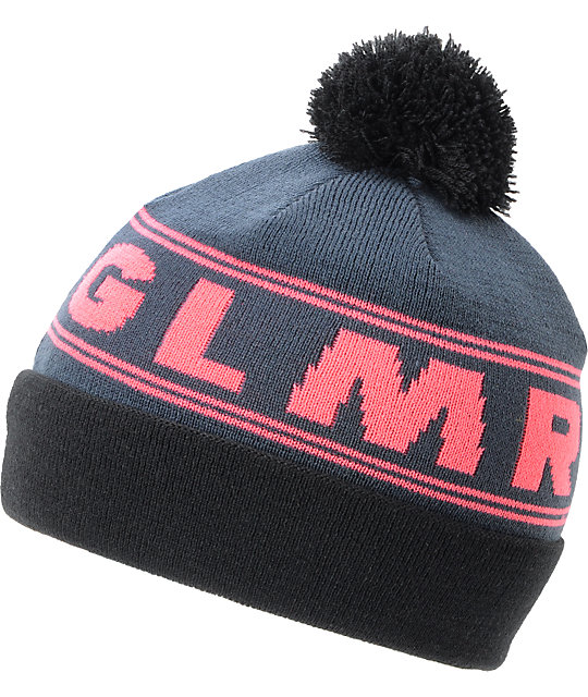 Glamour Kills The Ralphie Navy Blue Pom Beanie