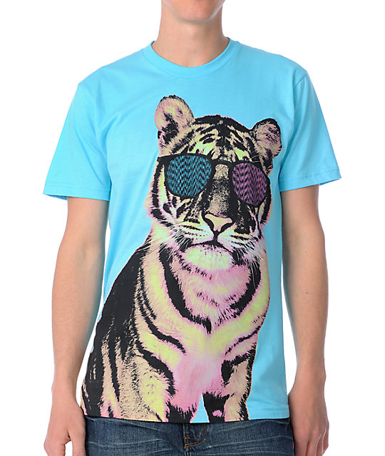 Glamour Kills Tiger Style Turquoise T-Shirt