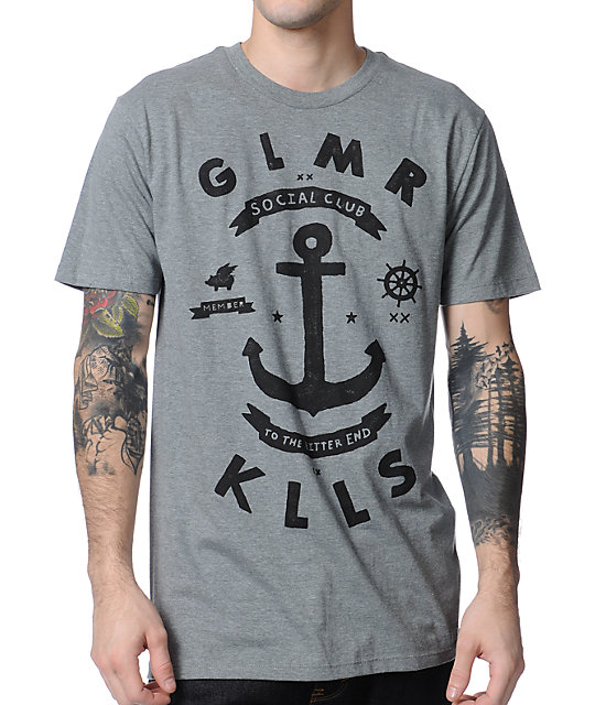 Glamour Kills To The Bitter End Grey T-Shirt