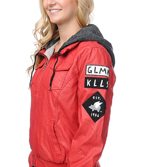 Glamour Kills United We Stand Red Bomber Jacket