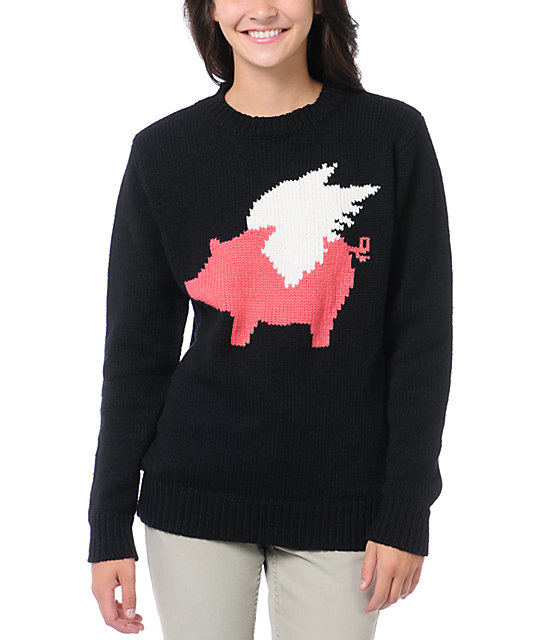 Glamour Kills When Pigs Fly Crew Neck Sweater