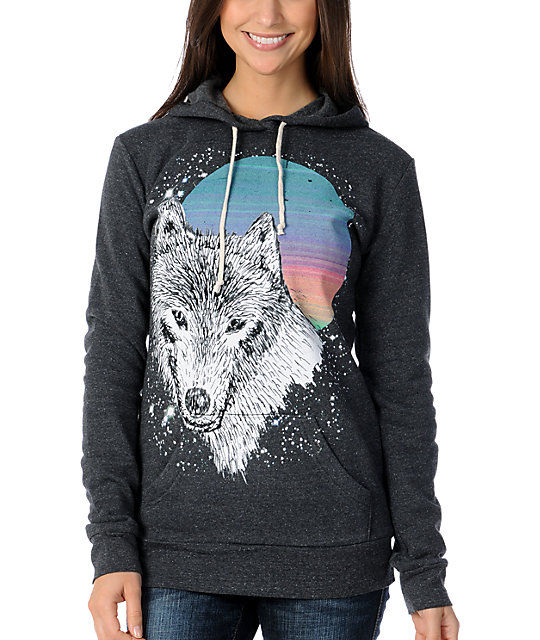 Glamour Kills Wolf Blitzer Charcoal Pullover Hoodie