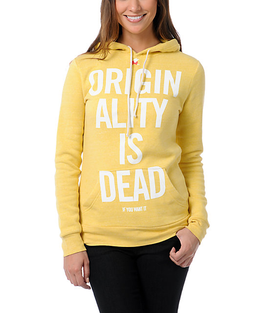 Glamour Kills Yon and Joko Yellow Pullover Hoodie