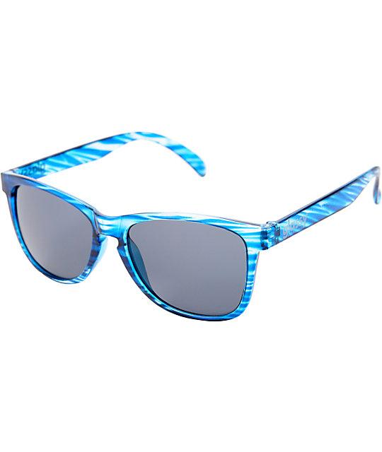 Glassy Deric Blue Sunglasses
