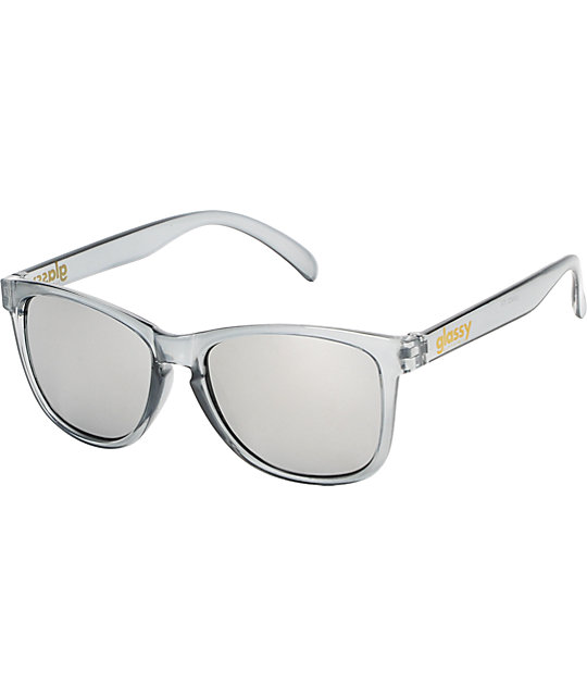 Glassy Deric Clear Grey & Silver Mirror Sunglasses
