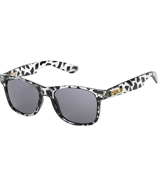 Glassy Leonard Black & Clear Tortoise Sunglasses
