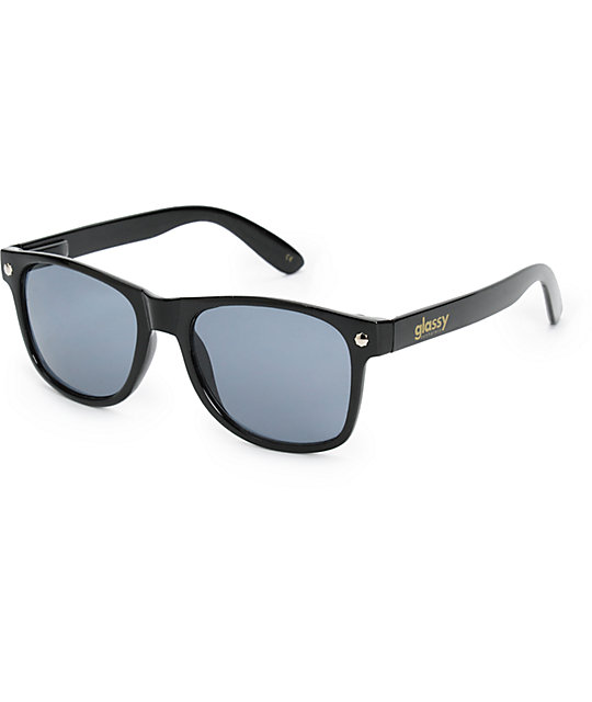 Glassy Leonard Black Sunglasses