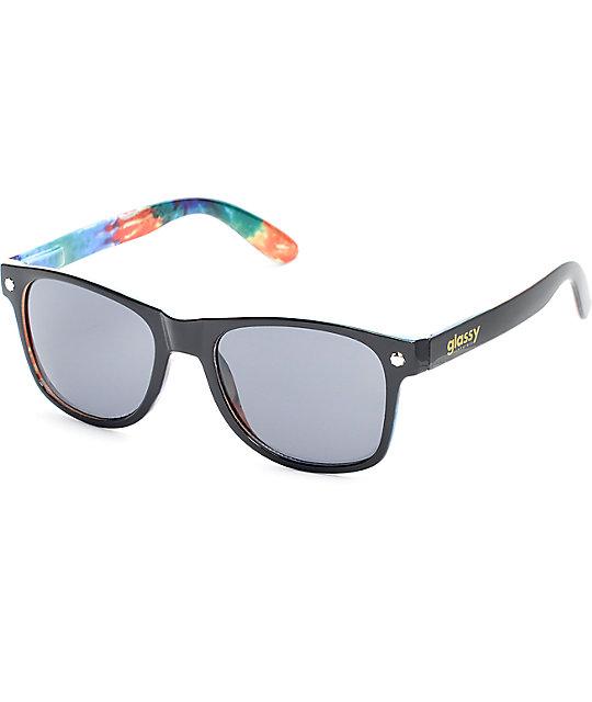 Glassy Leonard Black Tie Dye Sunglasses