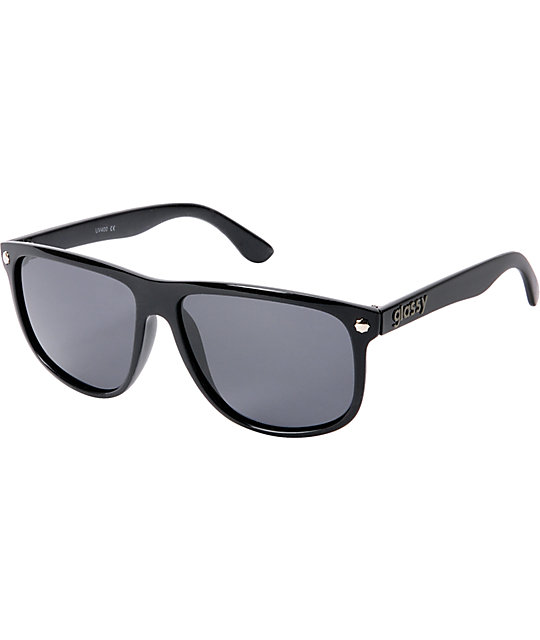 Glassy Mikey Taylor Black Sunglasses