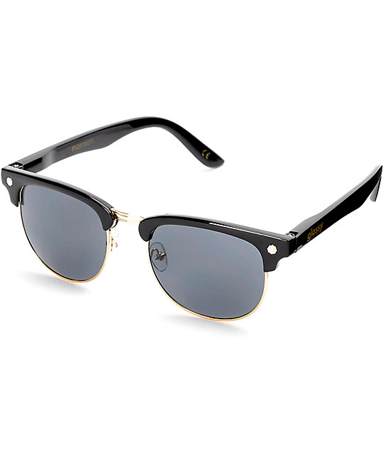 Glassy Morrison Black & Gold Sunglasses