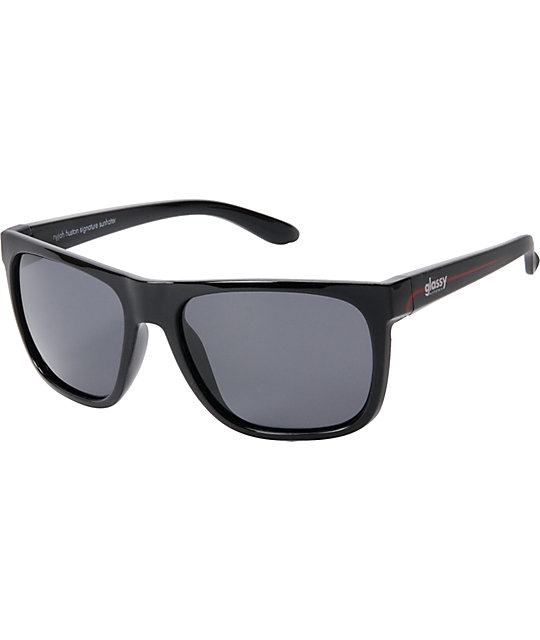 Glassy Nyjah Huston Black Sunglasses