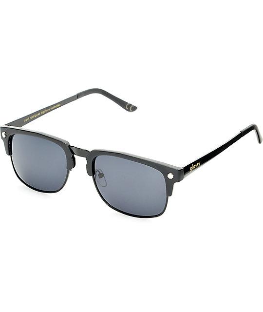 Glassy P-Rod Matte Black Polarized Sunglasses