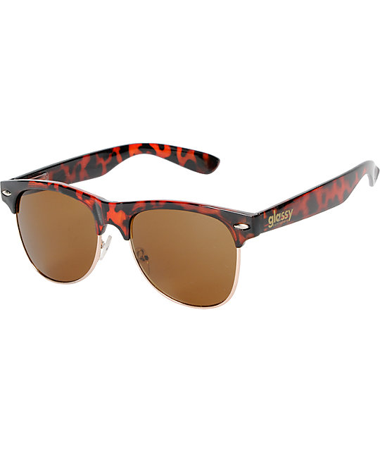 Glassy Shredder Brown Tortoise Sunglasses