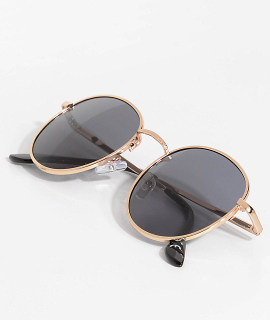 Glassy Sunhaters Ridley Black & Gold Sunglasses