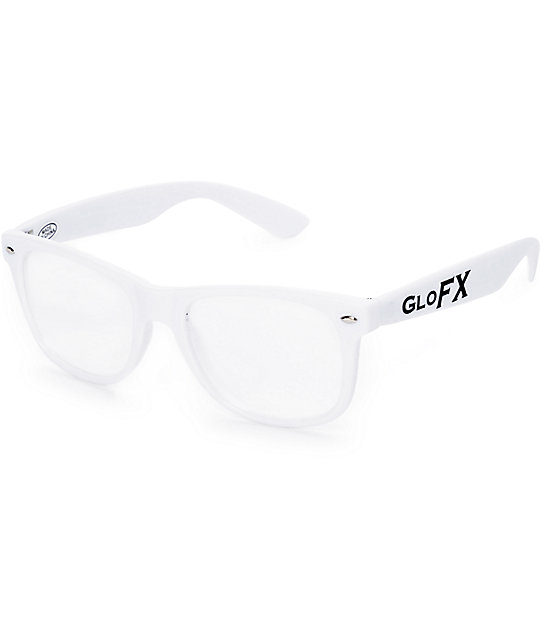 GloFX White Diffraction Glasses