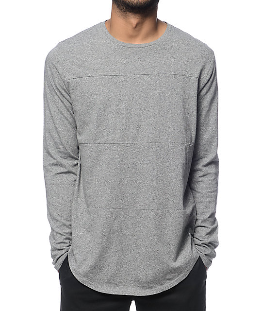 Globe Argo Grey Long Sleeve Tall T-Shirt | Zumiez
